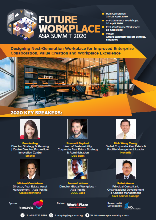 View the 2nd Annual Future Workplace Asia Summit 2020 Full Agenda