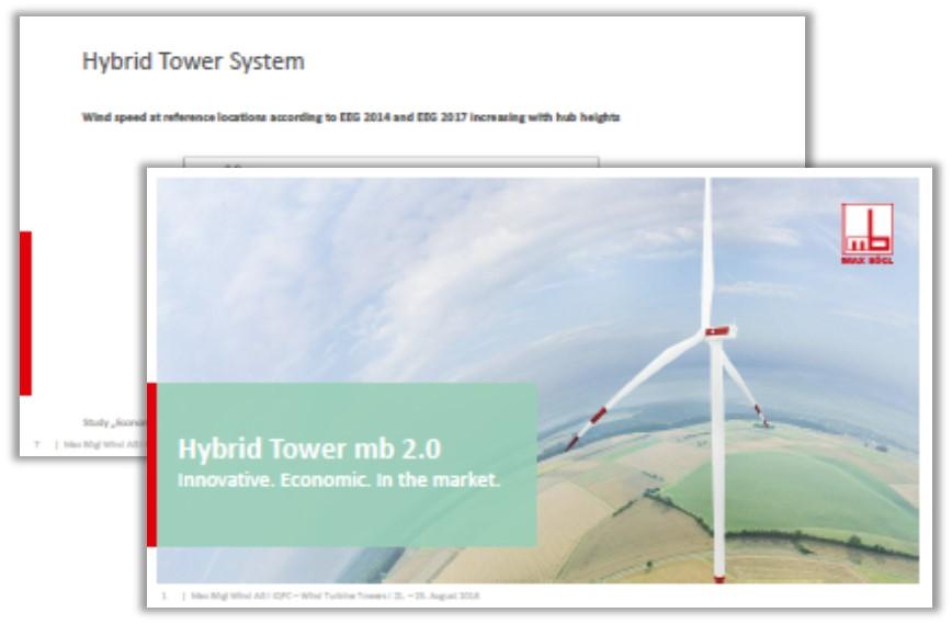 Max Bögl past presentation on Hybrid Tower mb 2.0