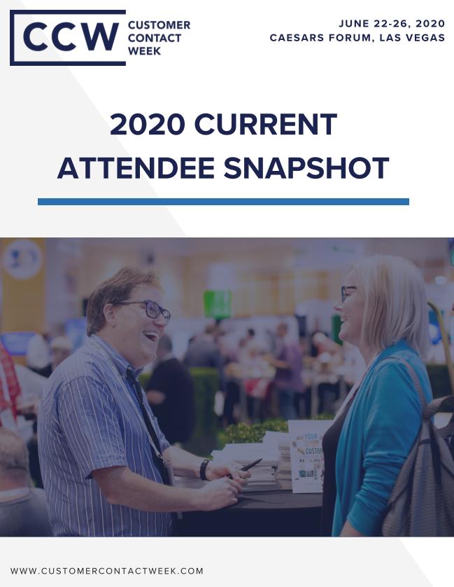 2020 Current Attendee Snapshot | CCW Vegas