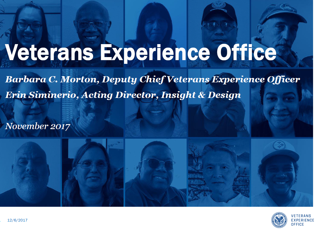 An Overview of the Veterans Experience Office