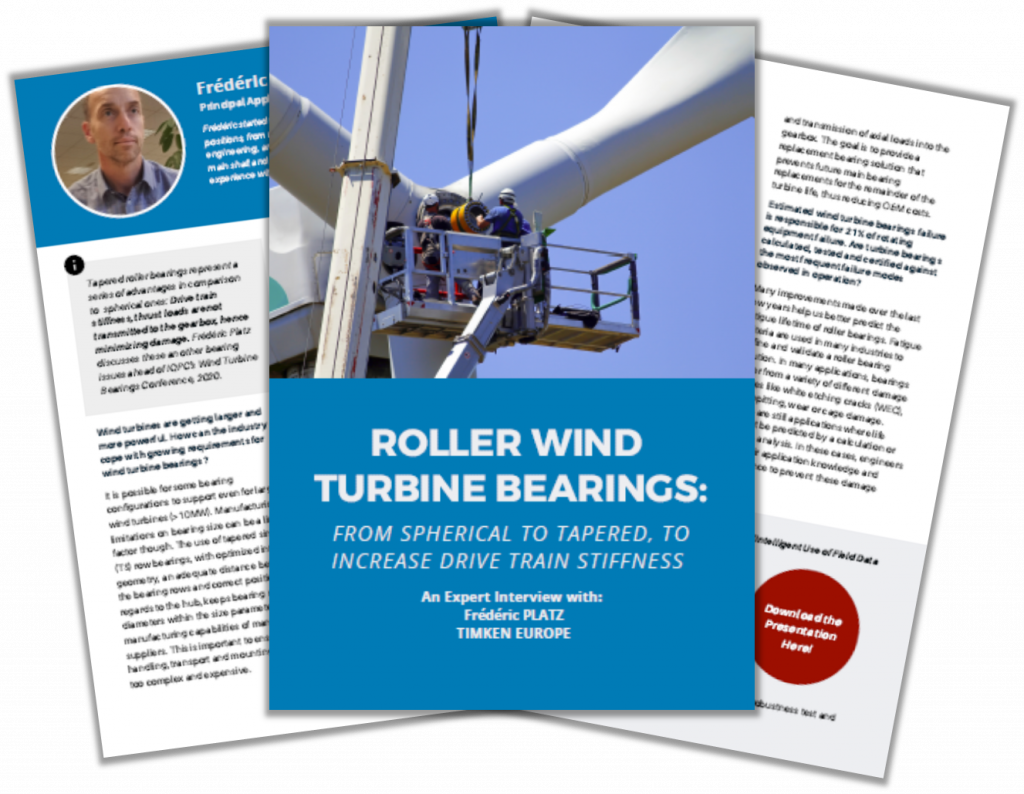 Expert Interview with Frédéric PLATZ from Timken on Roller Wind Turbine Bearings
