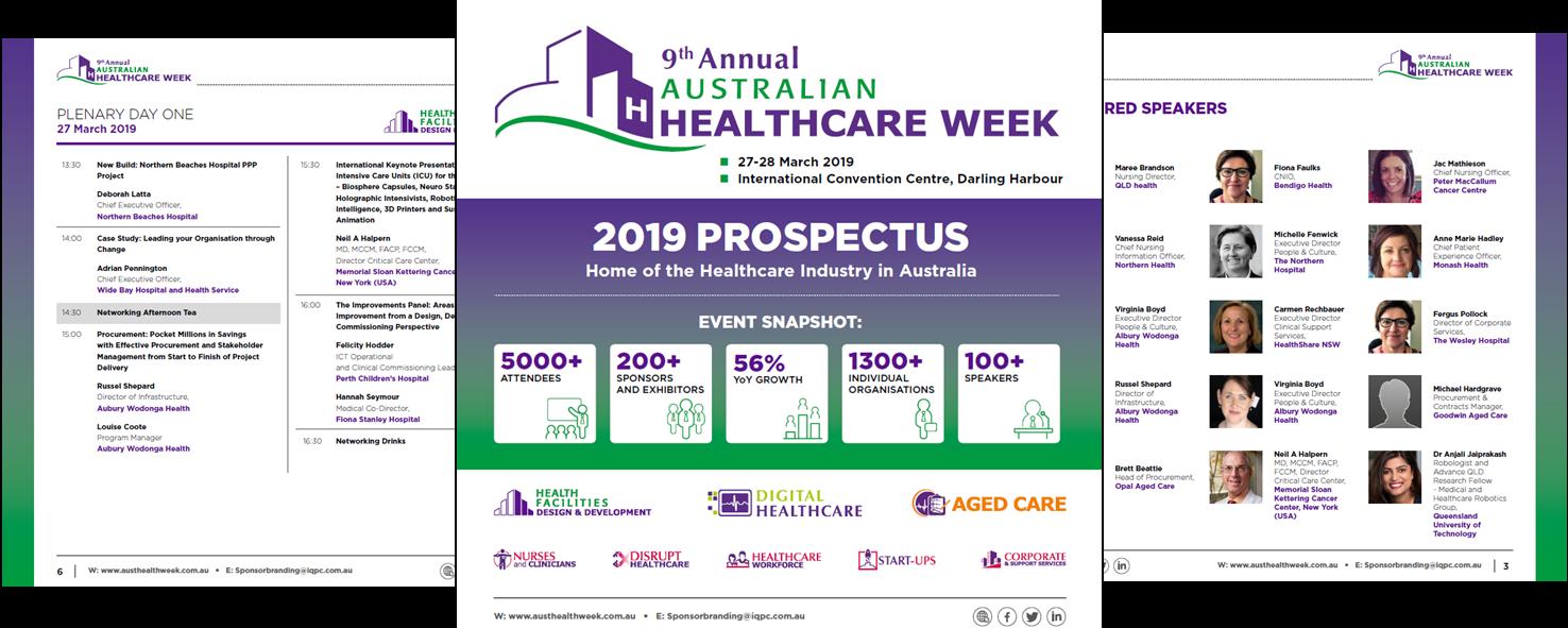 Australian Healthcare Week 2019 Preliminary Agenda
