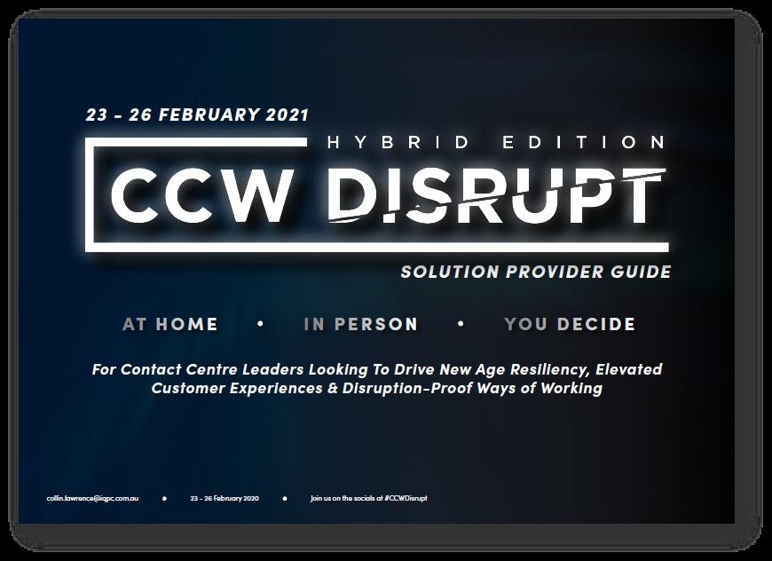 CCW Disrupt 2021 Sponsorship Prospectus