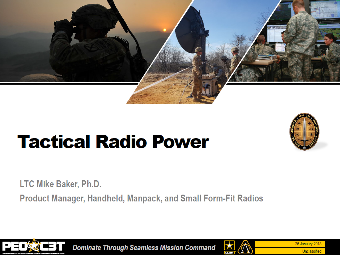 Reducing Energy Demands of Tactical Radios to Increase Warfighter Mobility