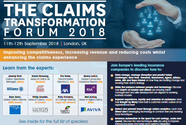 Claims Transformation Forum 2018 Agenda