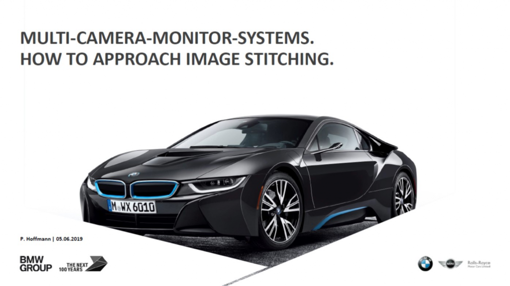 BMW Presentation on Multi Camera Monitor Systems: How to Approach Image Stitching