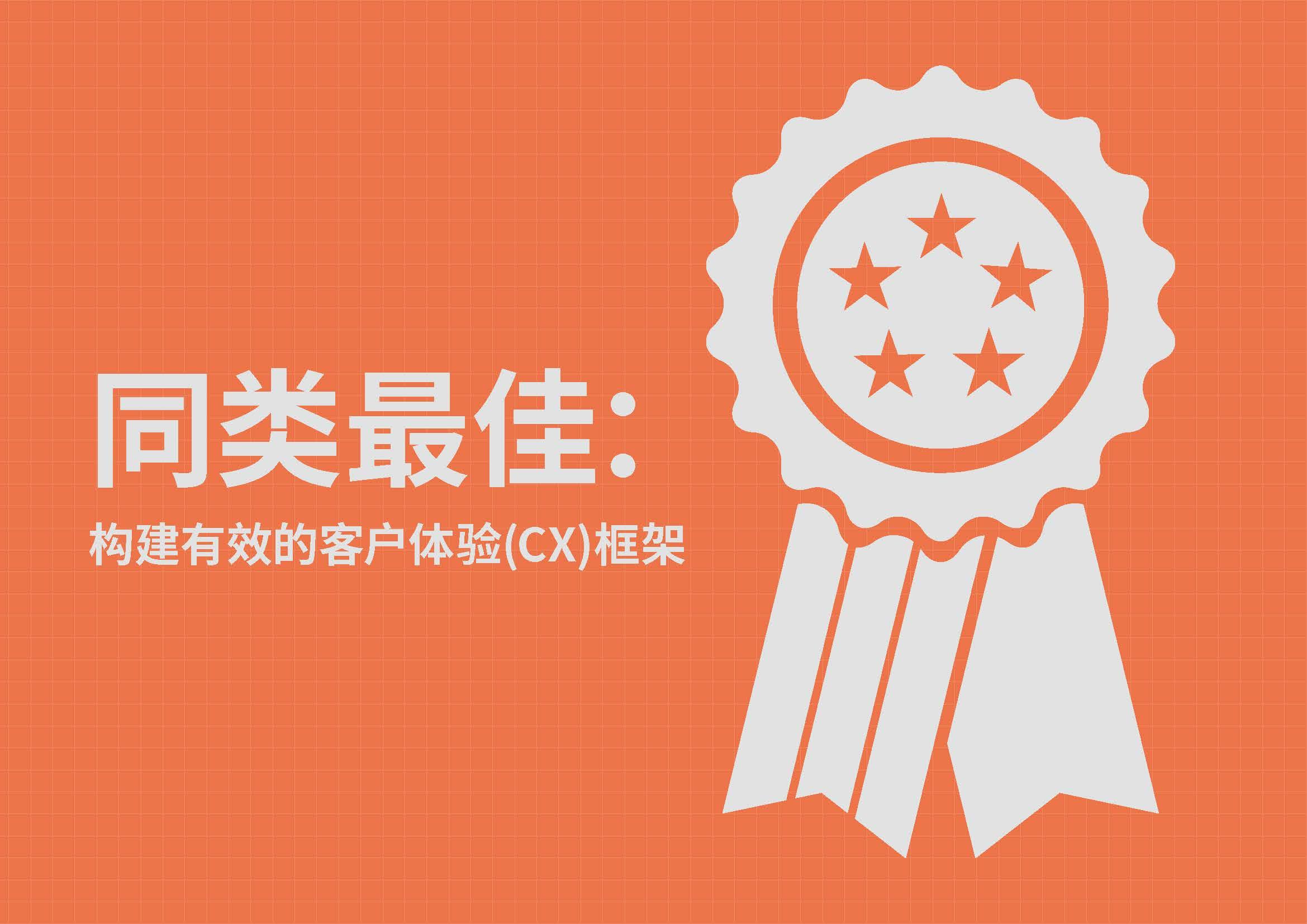 下载 - 同类最佳: 构建有效的客户体验(CX)框架