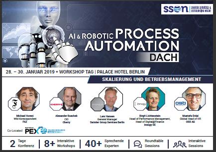 Konferezprogramm der AI & Robotic Process Automation DACH lesen