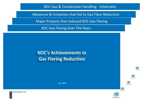 KOC's Achievements in Gas Flaring Reduction