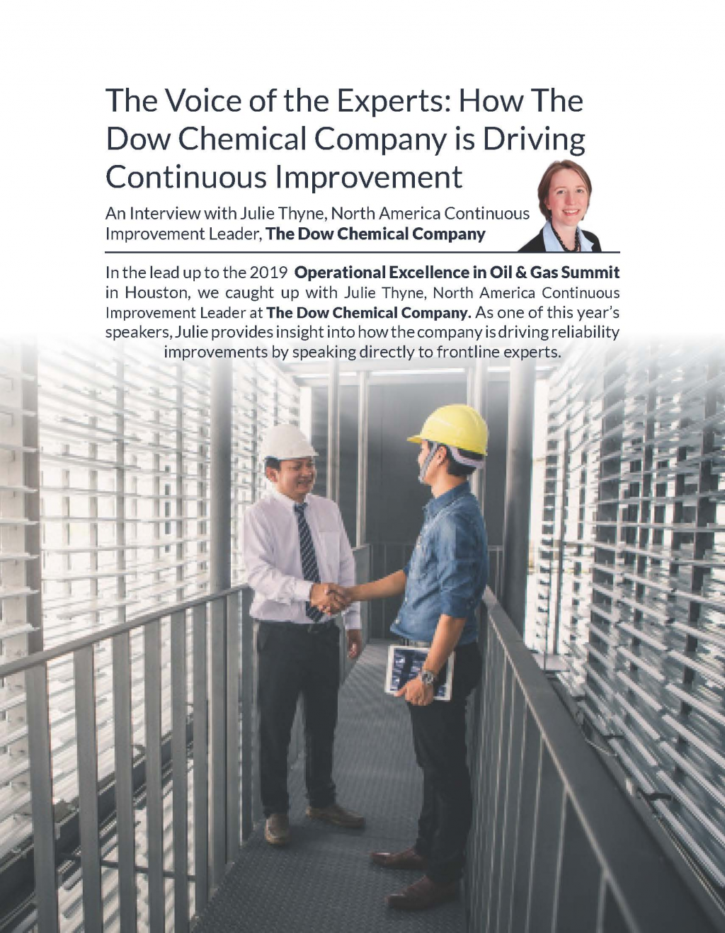 The Voice of the Experts: How The Dow Chemical Company is Driving Continuous Improvement