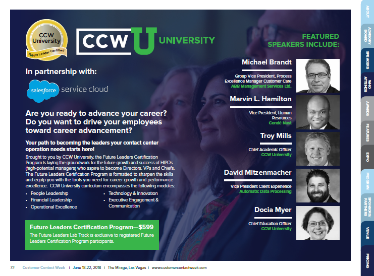CCW University: Future Leaders Certification Program