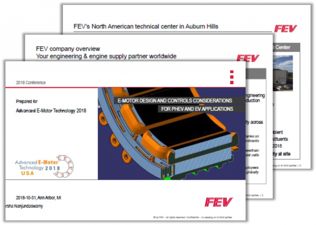 Past Presentation on E-Motor Design and Controls Considerations for PHEV and EV Applications by Harsha Nanjundaswamy
