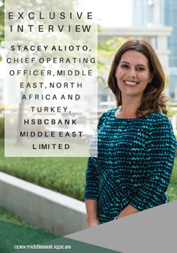 Exclusive: Stacey Alioto, Chief Operating Officer, Middle East, North Africa and Turkey, HSBC Bank Middle East Limited