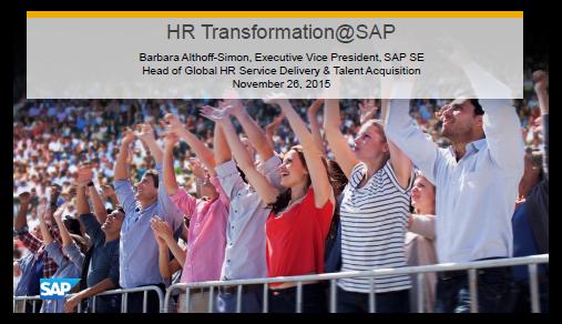 Presentation on HR Transformation at SAP