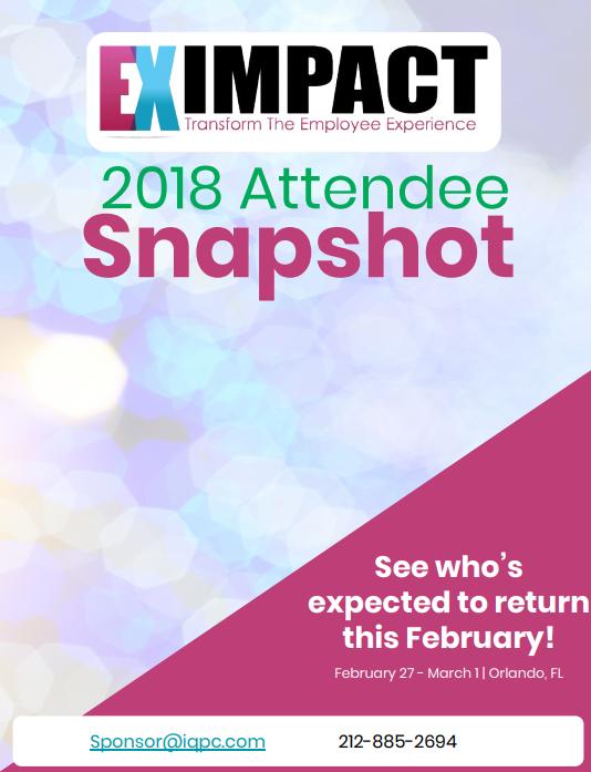 EX Impact - Past Attendee Snapshot