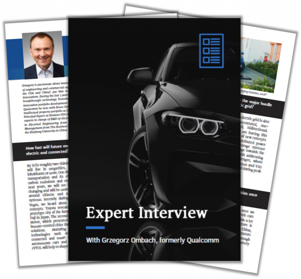 Expert Interview with Grzegorz Ombach on Innovations in E-Mobility Charging