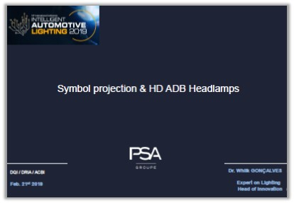 PSA Groupe Presentation: Symbol Projection & HD ADB Headlamps