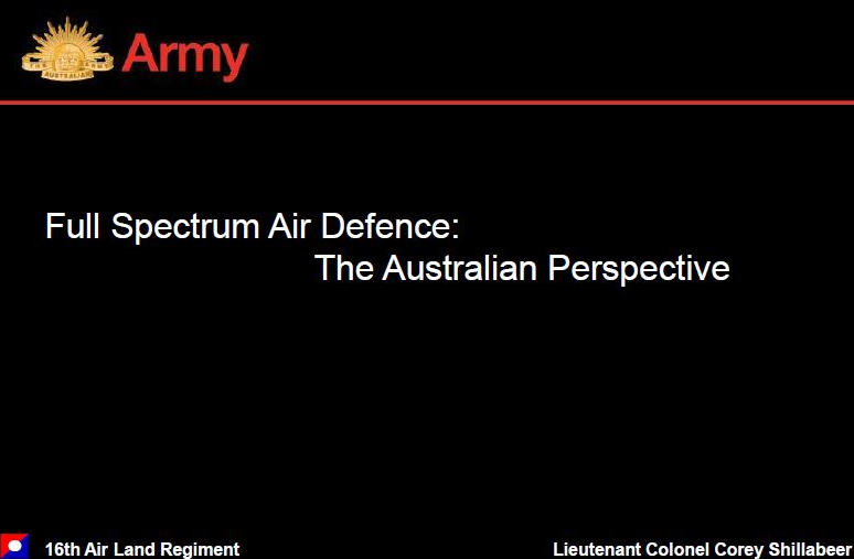 Full Spectrum Air Defence: The Australian Perspective