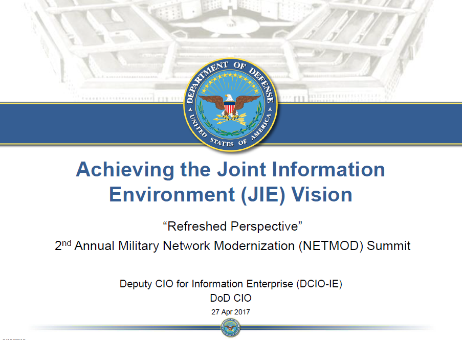 Creating the Joint Information Environment: DoD's Consolidation Priorities and Critical Next Steps