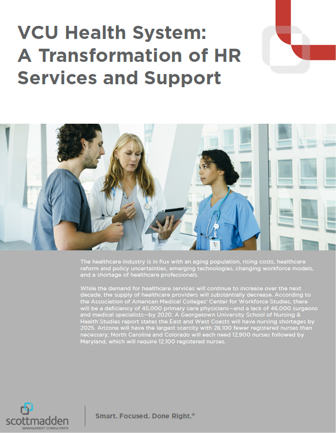 VCU Health System: A Transformation of HR Services and Support