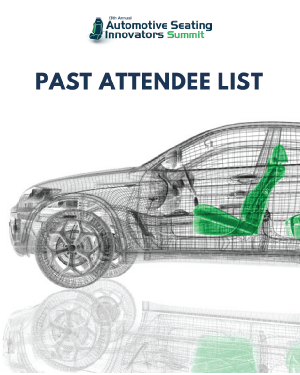 Automotive Seating Innovators 2019: Past Attendee List