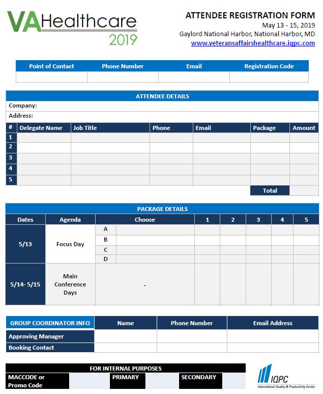 VA Healthcare 2019: Registration Form