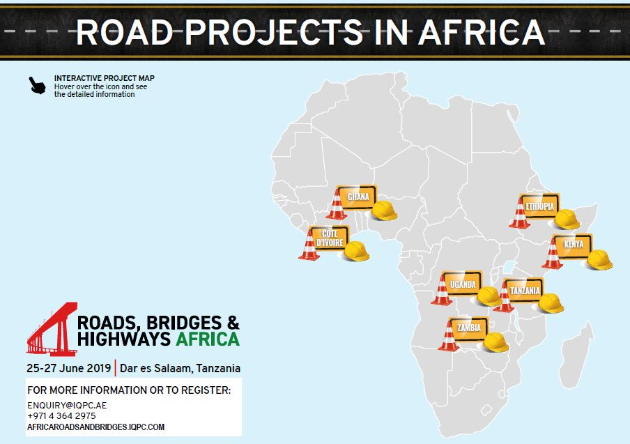 Interactive project map: Road projects in Africa