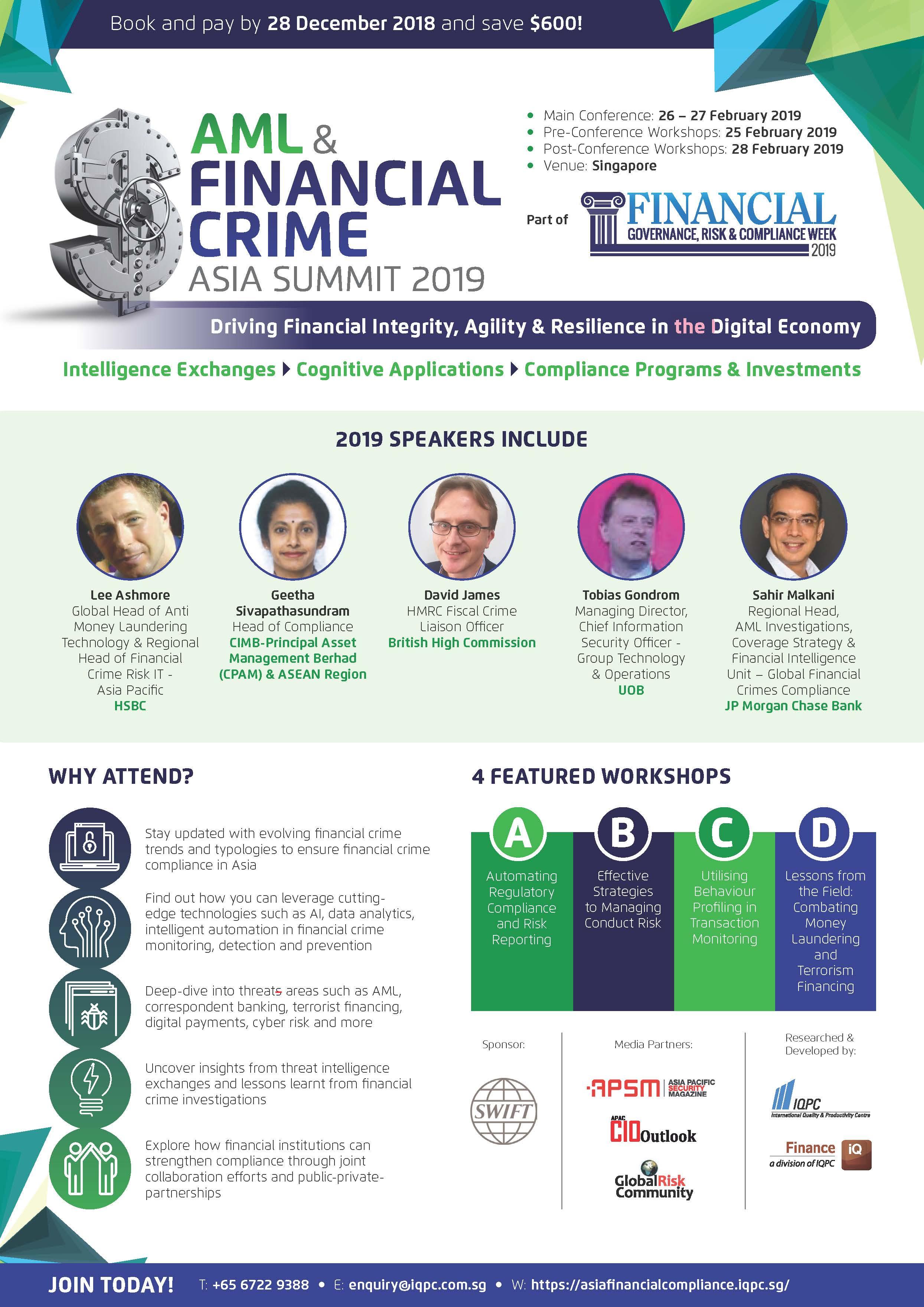 Financial Governance, Risk & Compliance Week Asia 2019 Brochure
