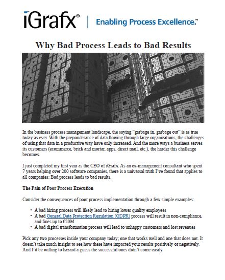Why Bad Process Leads to Bad Results