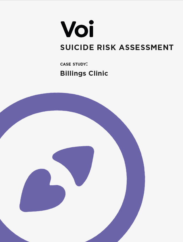 Suicide Risk Assessment Case Study: Billings Clinic