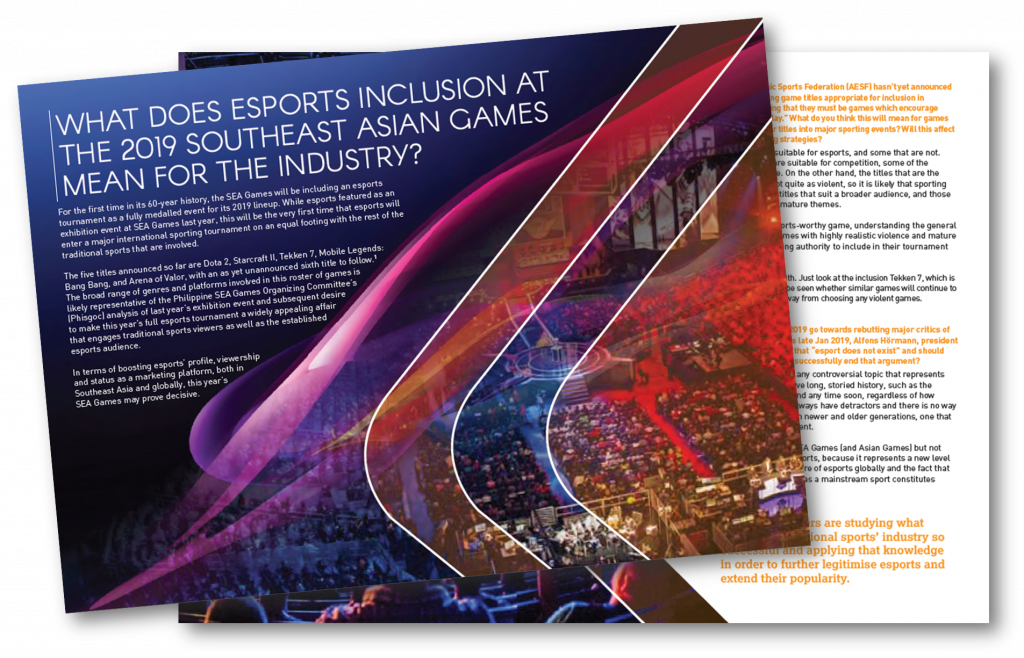 What the inclusion of Esports at the SEA Games will mean for the industry?