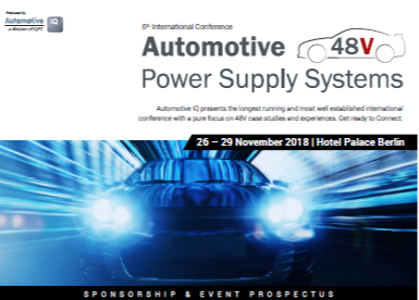 Event Prospectus: 6th International Conference - Automotive 48V Power Supply Systems 2018