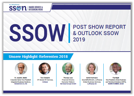 Post Show Report 2018 & Ausblick zum 14. Jahresforum der Shared Services & Outsourcing Woche 2019