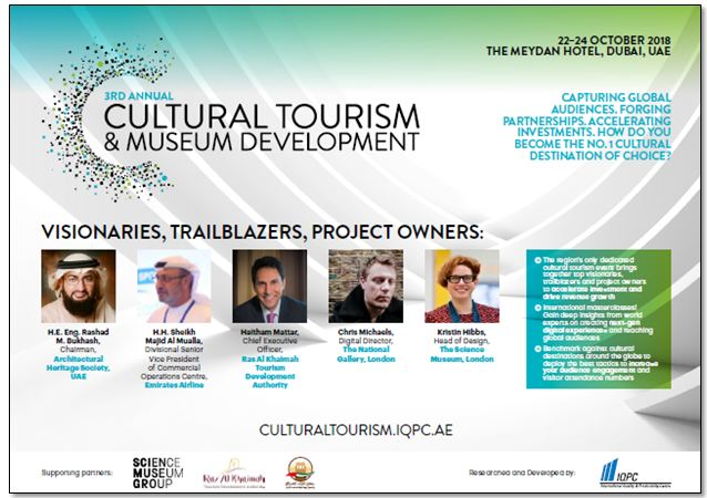 View the full event outline - 3rd Annual Cultural Tourism and Museum Development Middle East Forum