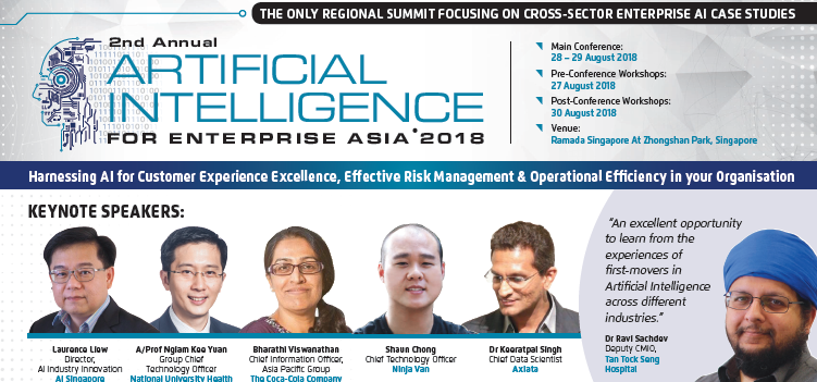 Download the programme for Artificial Intelligence For Enterprise Asia