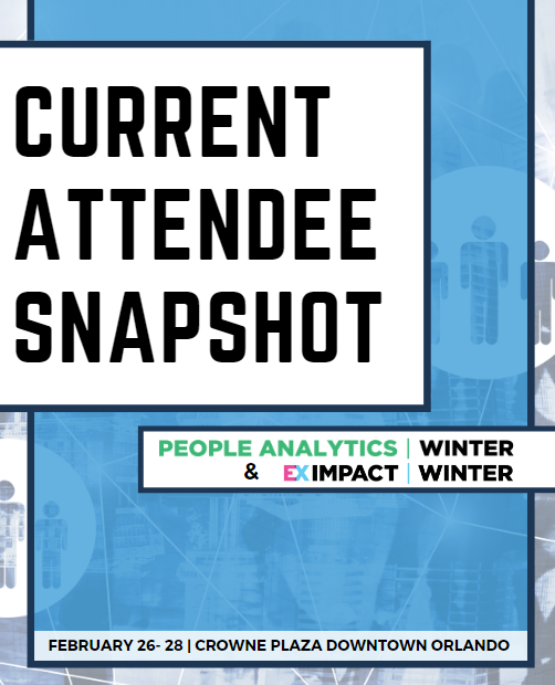 Current Attendee Snapshot: EX Impact Winter 2020