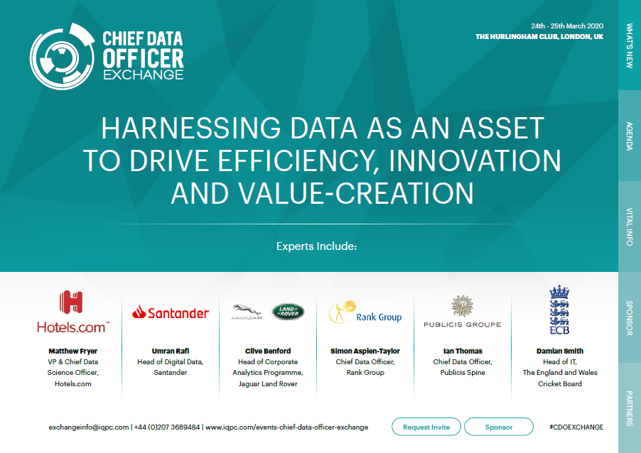 Chief Data Officer Exchange Agenda 2020