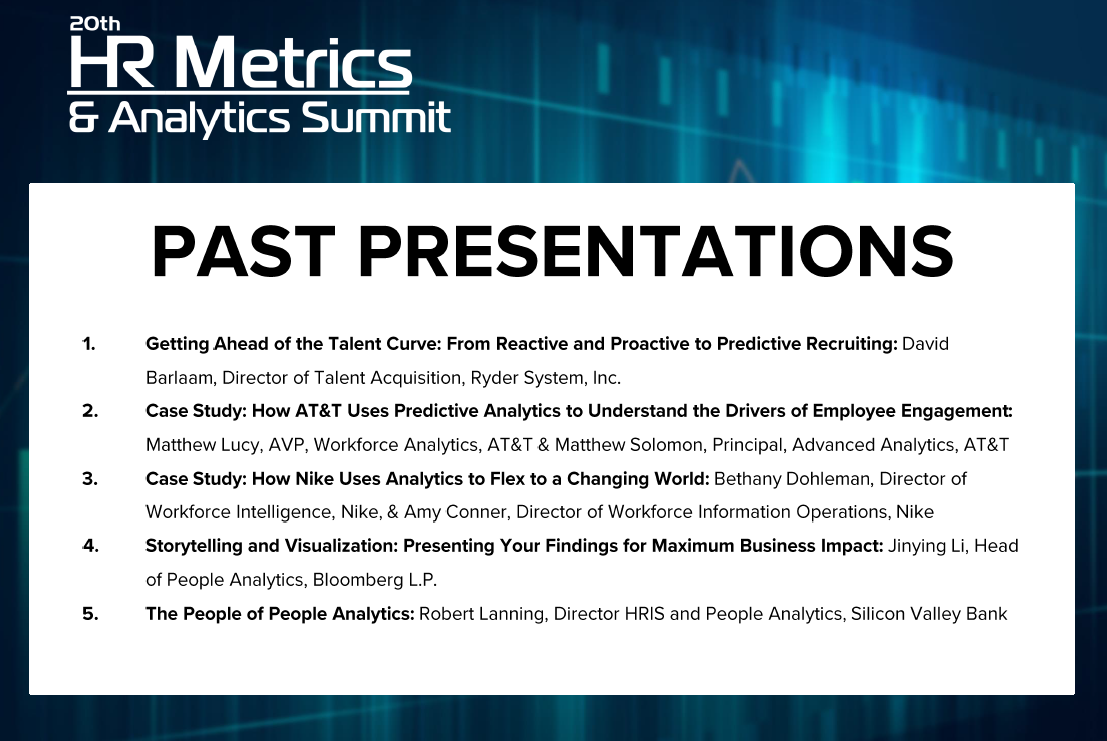 HR Metrics Past Presentations