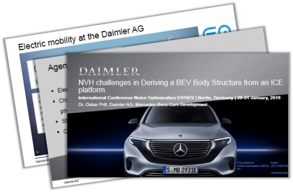 Daimler Presentation on NVH Challenges in Deriving a BEV Body Structure from an ICE Platform