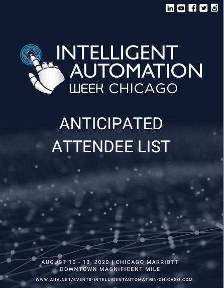 Anticipated Attendee List 2020
