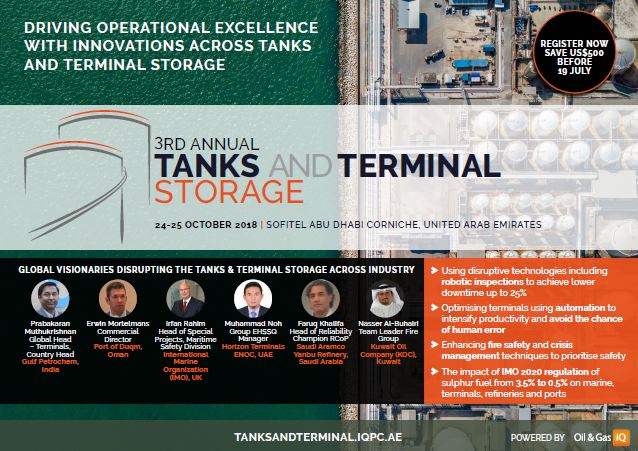 View the full event outline - 3rd Annual Tanks & Terminal Storage
