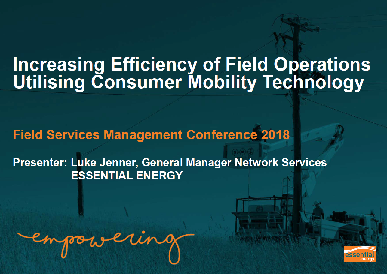 Increasing Efficiency of Field Operations Utilising Consumer Mobility Technology