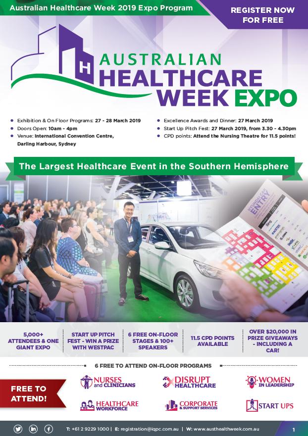 View the Australian Healthcare Week Expo 2019 On-Floor Brochure