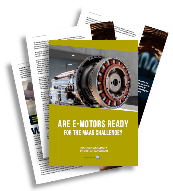 Report on are E-Motors Ready for the MaaS Challenge