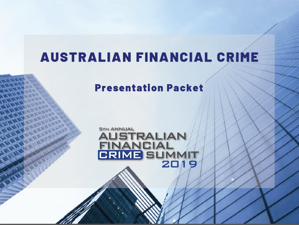 Australian Financial Crime Summit Presentation Packet
