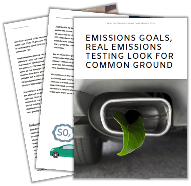 Exclusive article on Emissions Goals, Real Emissions Testing Look For Common Ground