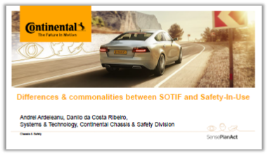 Presentation: Differences and Commonalities between SOTIF and Safety-In-Use
