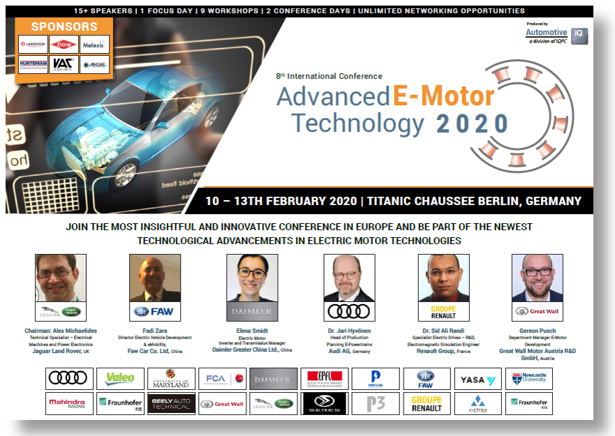 Partner Content: Advanced E-Motor Technology 2020 Conference! - Get the info!