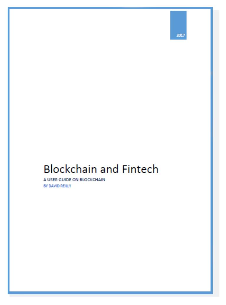 Blockchain & FinTech: A User Guide