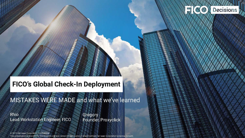 FICO's Global Check-In Deployment